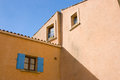 Roussillon buildings colorful of in provence france Stock Image