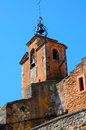 Roussillon church of the ochre city provence Stock Photos
