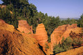 Roussillon Cliffs at Sunset Royalty Free Stock Image