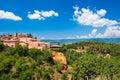 Roussillon village near Gordes, Provence, France Royalty Free Stock Photo