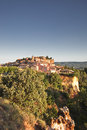 Roussillon village the of in provence Stock Images