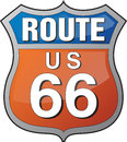Route 66 logo Stock Photography