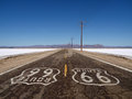 Route 66 Mojave Desert Salt Flats Royalty Free Stock Photos