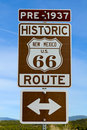 Route 66 road sign Royalty Free Stock Photo