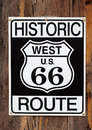 Route 66 Sign Close Up Royalty Free Stock Photography
