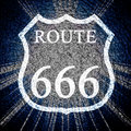 Route 666 Royalty Free Stock Photos