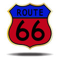 Route 66 Coloured Sign Royalty Free Stock Photo