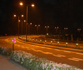 Route de nuit Photos stock