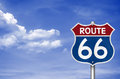 Route legendary road sign Royalty Free Stock Photo