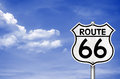 Route the legendary u s highway road Royalty Free Stock Images