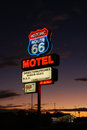 Route motel motelsign on historic in seligman arizona Royalty Free Stock Photo