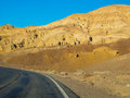 Route near zabriskie point in death valley national park Royalty Free Stock Photo