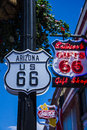 Route one of the iconic roads in united states sign arizona usa Stock Images
