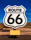 Route road sign in arizona usa under blue sky Stock Photography