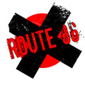 Route 66 rubber stamp