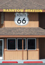 Route sign on barstow station Royalty Free Stock Image