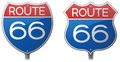Route signs interstate and highway Stock Photography