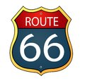 Route sixty six icon glossy Stock Photo
