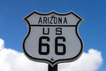 Route sixtysix road sign in arizona Royalty Free Stock Photo