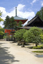 Route to Red Temple on Mount Kōya Royalty Free Stock Image