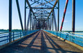 Route u s a missouri st louis area the old chain of roks bridge on the mississippi river Royalty Free Stock Photography