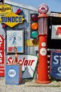 Route 66 vintage gas pumps in Missouri . Royalty Free Stock Photo