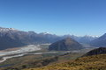 Routeburn dart valley looking up to from mt judah Royalty Free Stock Photography
