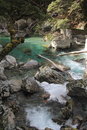 Routeburn track river alongside great walk new zealand Royalty Free Stock Photography