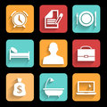 Daily routine a of a businessman modern business can be used for icon template diagram Stock Image