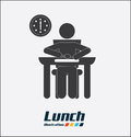 Routine design over white background vector illustration Royalty Free Stock Photos