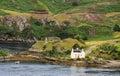 Rovine del castello di Strome, Loch Carron, Scozia Immagine Stock