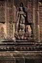 Rovine di Angkor Wat del tempiale di Banteay Srei, Cambogia Fotografia Stock Libera da Diritti