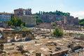 Rovine di Italy.Rome.Ancient della tribuna romana Fotografia Stock Libera da Diritti