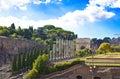 Rovine di Italy.Rome.Ancient della tribuna romana Immagini Stock