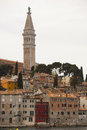 Rovinj in croatia view on and st euphemia s basilica Stock Photography