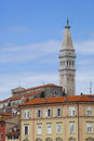 Rovinj view on and st euphemia s basilica Stock Photo