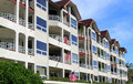 Row of apartment buildings Royalty Free Stock Photo