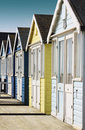 Row of Beach Huts Royalty Free Stock Photo