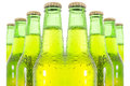 Row of beer bottles see my other works in portfolio Royalty Free Stock Photography