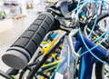 Row of bikes available to sell in the shop Royalty Free Stock Photography
