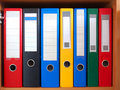Row of binders Royalty Free Stock Photo