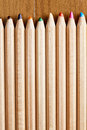 Row of blunt pencils Royalty Free Stock Photo