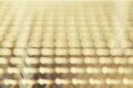 Row of blurred yellow lights