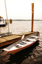Row boat at the dock. Stock Photography