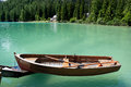 Row boat floating on the water Royalty Free Stock Photo