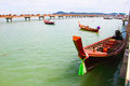 Row boat harbour phuket thailand Stock Images