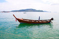 Row boat phuket sea in thailand Stock Photos