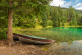 Row Boats on Valley of the Five Lakes Royalty Free Stock Photo
