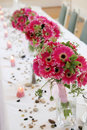 Row of bouquets Royalty Free Stock Image