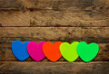 Row of bright colorful stickers Royalty Free Stock Photo